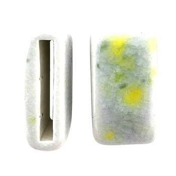 Clay River Porcelain Slider Flat 20mm Large - Lemon Lime