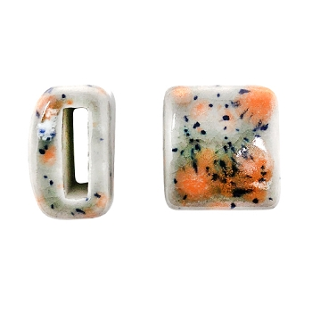 Clay River Porcelain Slider Flat 10mm Large - Smoke & Fire