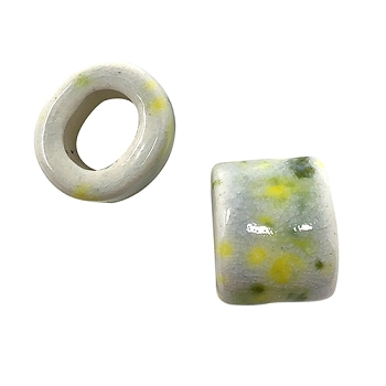 Clay River Porcelain Slider Oval Large Hole 15mm - Lemon Lime