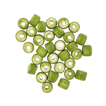 Clay River Porcelain Slider 5mm ROUND - Lime