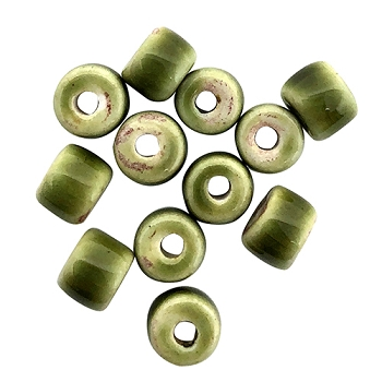 Clay River Porcelain Slider 5mm ROUND - Olive Green