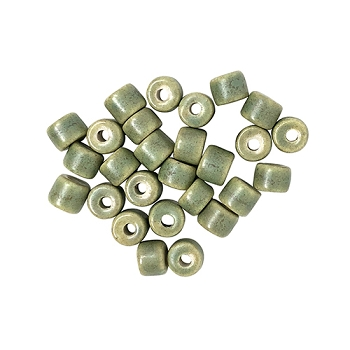 Clay River Porcelain Slider 5mm ROUND - Turtle Green