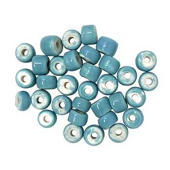 Clay River Porcelain Slider 5mm ROUND - Turquoise