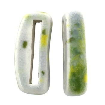 Clay River Porcelain Slider Flat 20mm Small - Lemon Lime