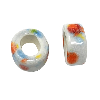 Clay River Porcelain Slider Oval Large Hole 10mm - Confetti