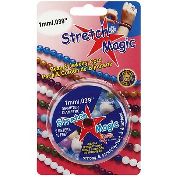 Stretch Magic Bead and Jewelry Cord 1mm - BLACK