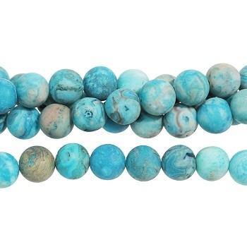 MATTE Blue Crazy Lace Agate 8mm Round 8