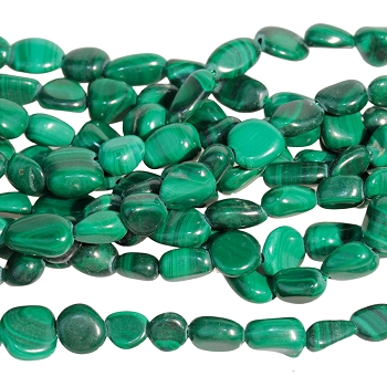 Malachite 4-6mm Pebble 15-16