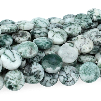 Tree Agate 12mm Coin 8