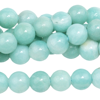 Amazonite 8mm Round Large Hole (2.5mm) 8