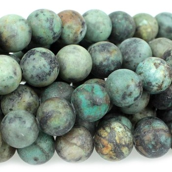 MATTE African Turquoise 10mm  Round  8