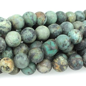 MATTE African Turquoise 8mm Round  8
