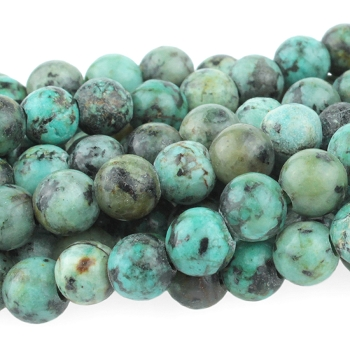 African Turquoise 8mm Large Hole (2.5mm) Round 8