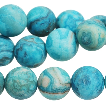 MATTE Blue Crazy Lace Agate 10mm Round 8