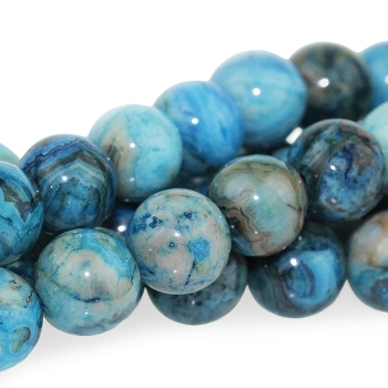 Blue Crazy Lace Agate 8mm Round 8