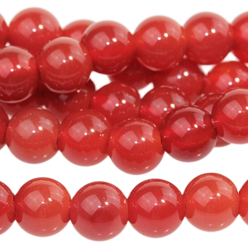 Carnelian 8mm Round Large Hole (2.5mm) 8