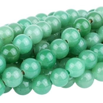 Green Aventurine 10mm  Round  Large Hole Bead  8
