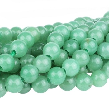 Green Aventurine 8mm Round  Large Hole 8
