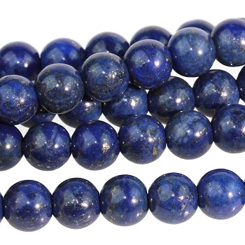 Lapis 10mm Round Large Hole (2.5mm) 8
