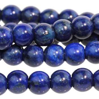 Lapis 8mm Round Large Hole (2.5mm) 8