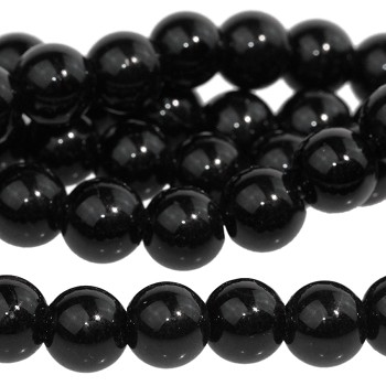 Onyx 8mm Round  Large Hole 8