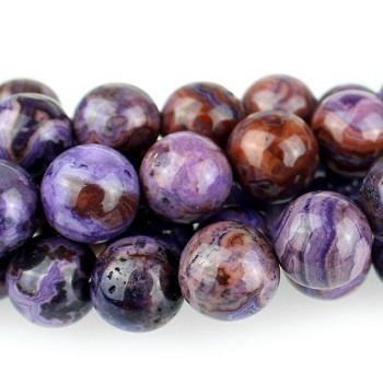 Purple Crazy Lace Agate 10mm  Round  8