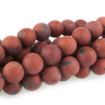 Red Creek  Jasper 10mm  Large Hole Round  8