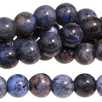 Sunset Dumortierite 8mm Large Hole Round  8