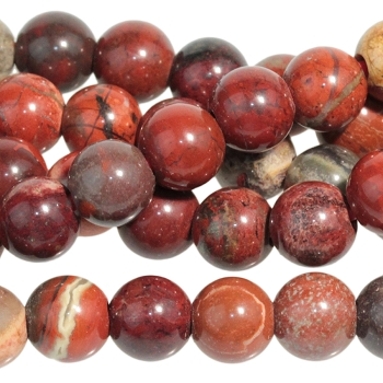 Apple Jasper 8mm Large Hole Round (2.5mm) 8