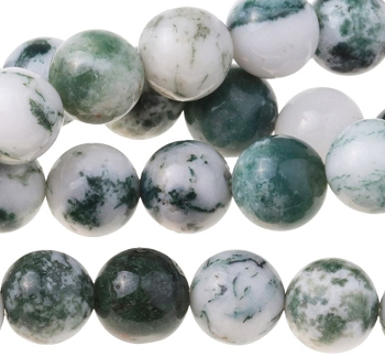 Tree Agate 8mm Round 8