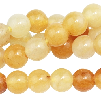 Yellow Jade 8mm Large Hole Round (2.5mm) 8
