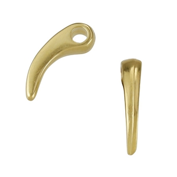 Claw Charm Shiny Gold - per 10 pieces