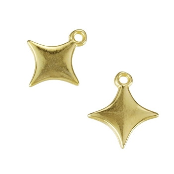 Flat Sparkle Charm Shiny Gold - per 10 pieces