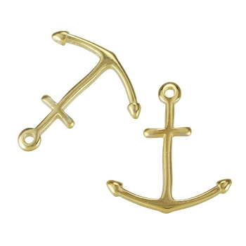 Smallmal Anchor Charm Shiny Gold - per 10 pieces