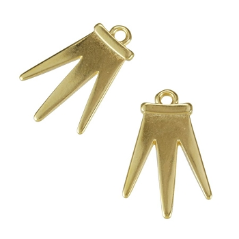 Regal Rays Charm Shiny Gold - per 10 pieces