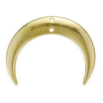 28mm Hanging Crescent Connector Pendant Shiny Gold - per 10 pieces