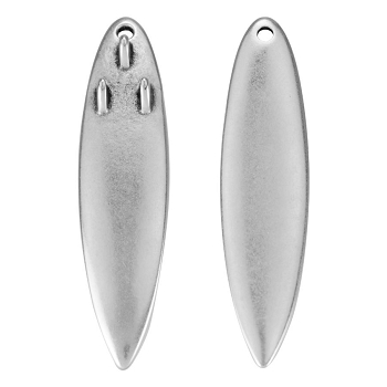 Large Surfboard Pendant Antique Silver - per 10 pieces