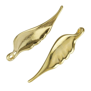 Angel Wing Pendant Shiny Gold - per 10 pieces