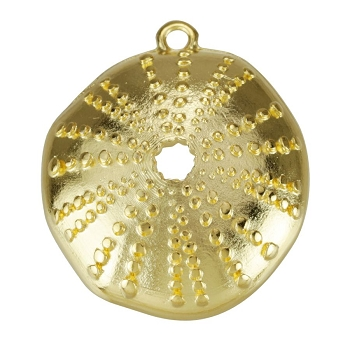 Sea Urchin Pendant Shiny Gold - per 10 pieces