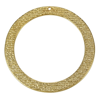 55mm Etched Circle Pendant Shiny Gold - per 10 pieces