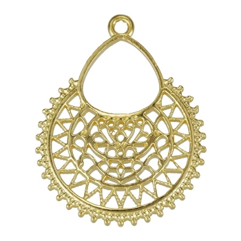 Moroccan Pendant Shiny Gold - per 10 pieces