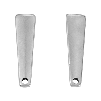 Drop Bar Post Earring with Hole ANT SILVER - per 2 pieces