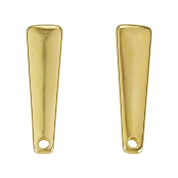 Drop Bar Post Earring with Hole SHINY GOLD - per 2 pieces