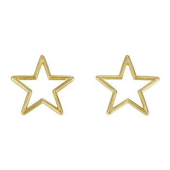 Star Wire Post Earring SHINY GOLD - per 2 pieces
