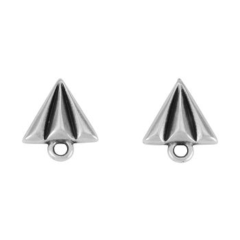 Paper Airplane Post Earring ANT SILVER - per 2 pieces
