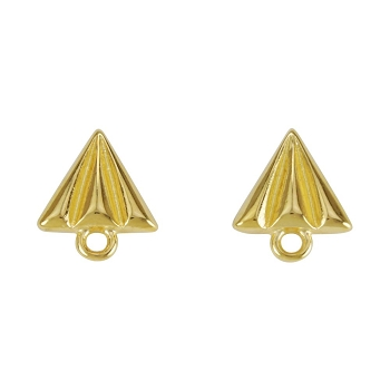 Paper Airplane Post Earring SHINY GOLD - per 2 pieces