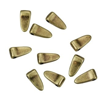 Small Wide Spike Drop Antique Brass - per 10 pieces