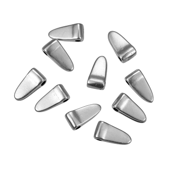 Small Wide Spike Drop Antique Silver - per 10 pieces