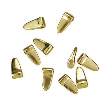 Small Wide Spike Drop Shiny Gold - per 10 pieces