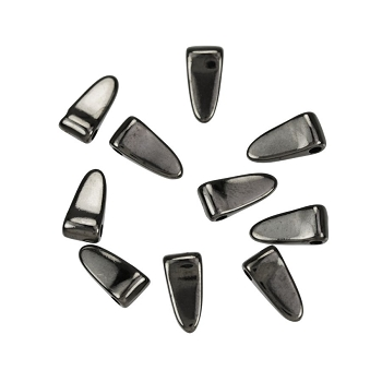 Small Wide Spike Drop Gunmetal - per 10 pieces